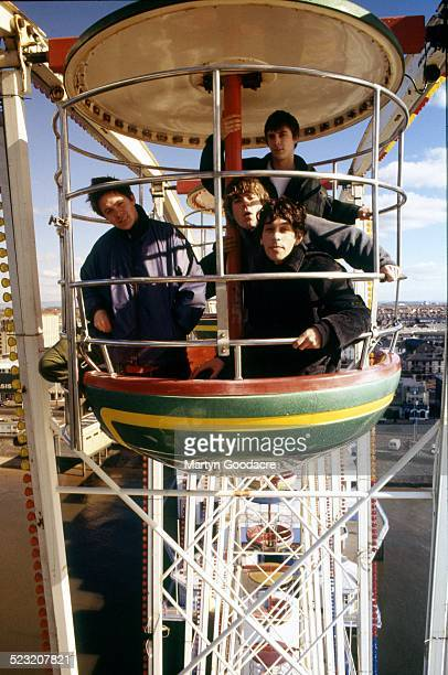 Britpop band Shed Seven group portrait Blackpool United Kingdom 1994 Clockwise from left Alan Leach Thomas Gladwin Paul Banks Rick Witter