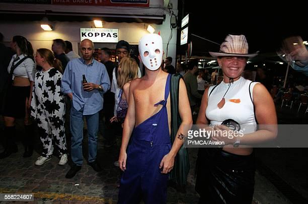 Brits Abroad a man dressed as Eminem Club 1830 West End San Antonio Ibiza 2001