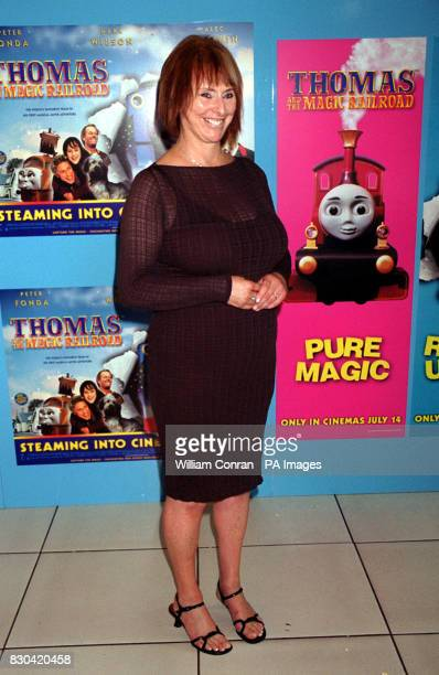 Britt Allcroft writer producer and director of the children's film Thomas and the Magic Railroad at the movie's world charity premiere at the Odeon...