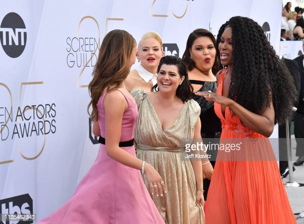 Britt Baron Kimmy Gatewood Rachel Bloom Britney Young and Sydelle Noel attend the 25th Annual Screen Actors Guild Awards at The Shrine Auditorium on...