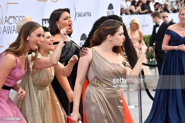 Britt Baron Rachel Bloom Britney Young and Rebekka Johnson attend the 25th Annual Screen Actors Guild Awards at The Shrine Auditorium on January 27...