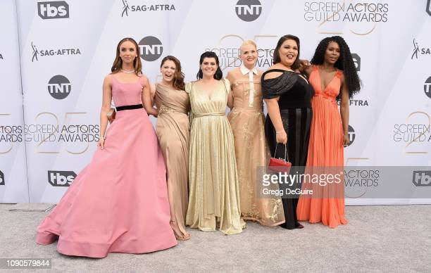 Britt Baron Rachel Bloom Rebekka Johnson Kimmy Gatewood Britney Young and Sudelle Noel attend the 25th Annual Screen ActorsGuild Awards at The...