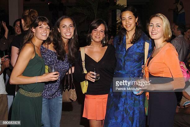 Britt Cosgrove Natalie Hawwa Lauren Friedman Yara Flinn and Erin Marszalek attend TRAVEL LEISURE Magazine's World's Best Awards 2005 Party at...