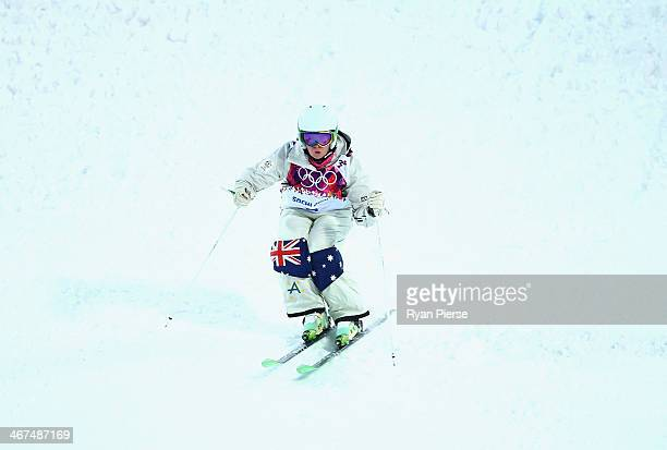 Britt Cox of Australia competes during Ladies' Moguls Qualification at Rosa Khutor Extreme Park on February 6 2014 in Sochi Russia