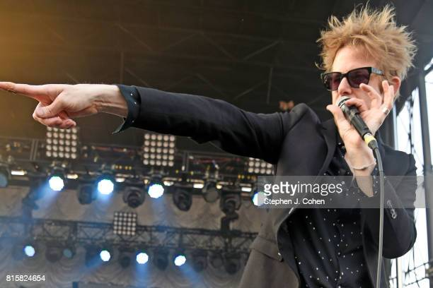 Britt Daniel of Spoon performs at the 2017 Forecastle Music Festival on July 16, 2017 in Louisville, Kentucky.