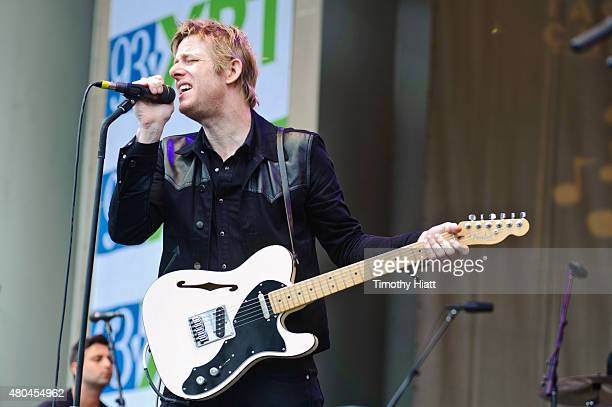 Britt Daniel of Spoon performs on Day 4 of the Taste Of Chicago in Grant Park on July 11 2015 in Chicago Illinois