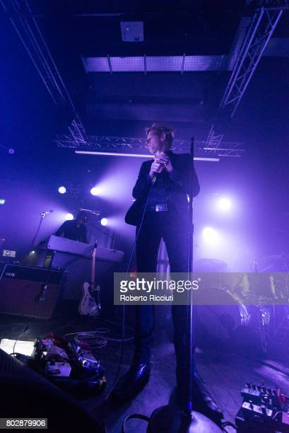 Britt Daniel of Spoon performs on stage at The Art School on June 28 2017 in Glasgow Scotland