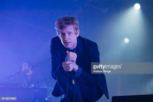 Britt Daniel of Spoon performs on the Heineken stage during day 3 of NOS Alive on July 8 2017 in Lisbon Portugal