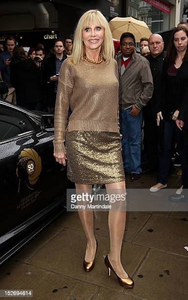Britt Ekland attends a photocall to announce the Bond 50 Bluray collection at HMV Oxford Street on September 24 2012 in London England