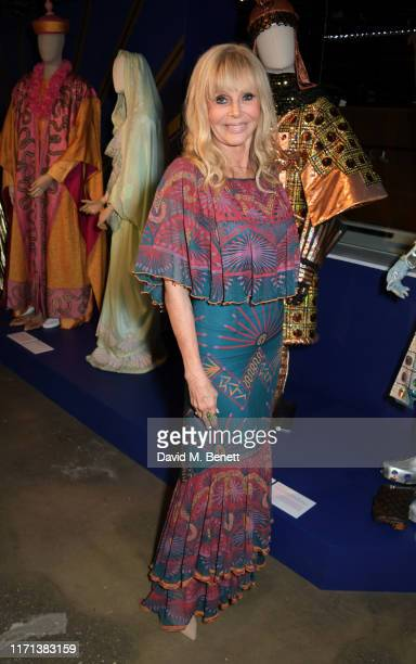 Britt Ekland attends a private view of Zandra Rhodes 50 Years Of Fabulous at The Fashion and Textile Museum on September 26 2019 in London England