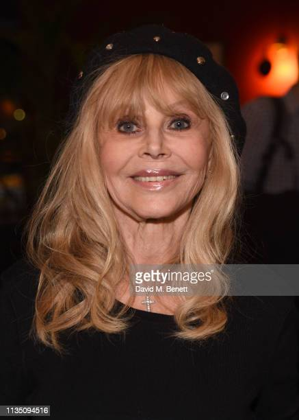 Britt Ekland attends 'In Conversation With Malcolm McDowell' at the BFI Southbank on April 5 2019 in London England
