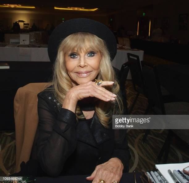 Britt Ekland attends The Hollywood Autograph Show at The Westin Los Angeles Airport on February 3 2019 in Los Angeles California