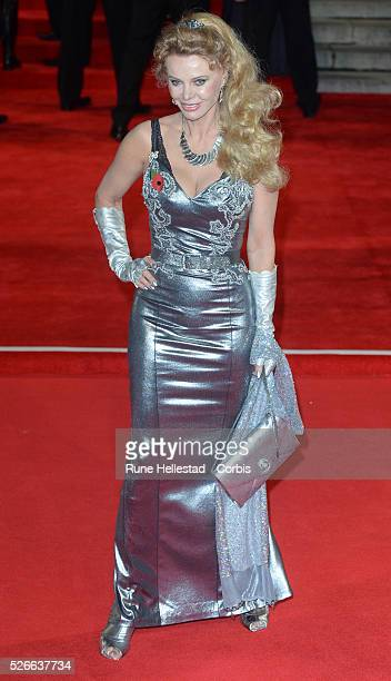 Britt Ekland attends the premiere of Spectre at Royal Albert Hall