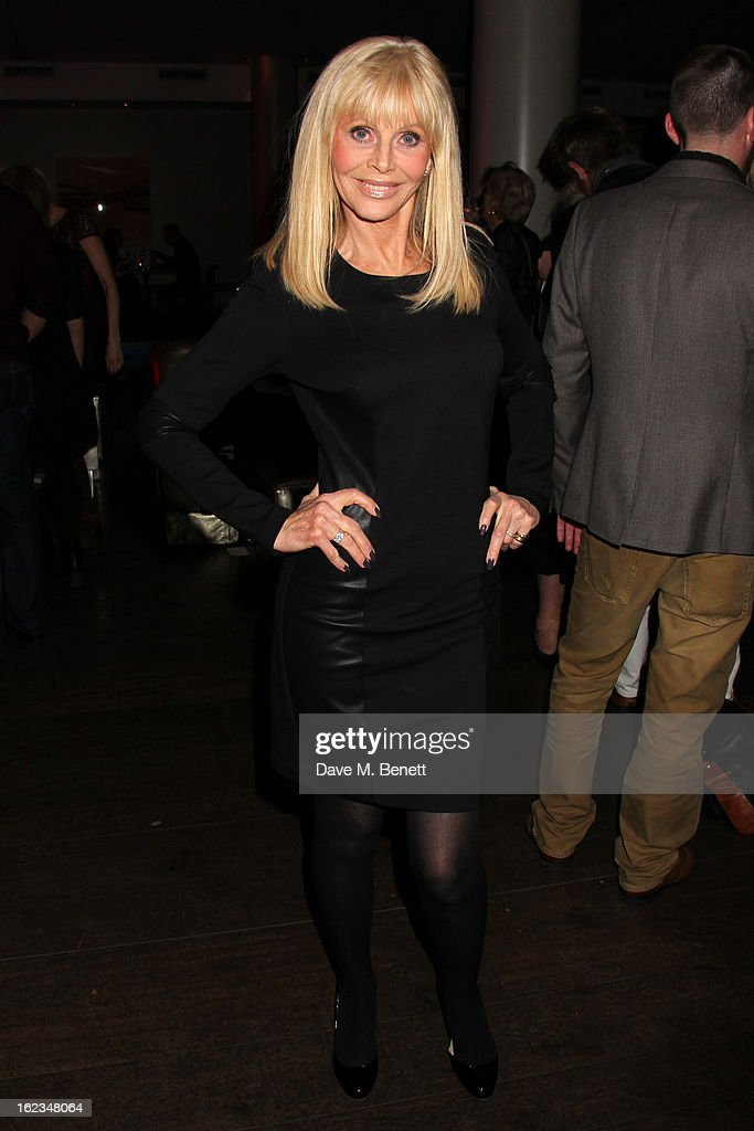 Britt Ekland attends 'The Tailor-Made Man' press night after party at the Haymarket Hotel on January 21, 2013 in London, England.