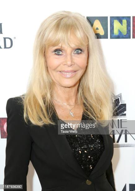 Britt Ekland attends Val Kilmer's HelMel Studios Presents GLAM Art Exhibition at HelMel Studios on November 15, 2019 in Los Angeles, California.