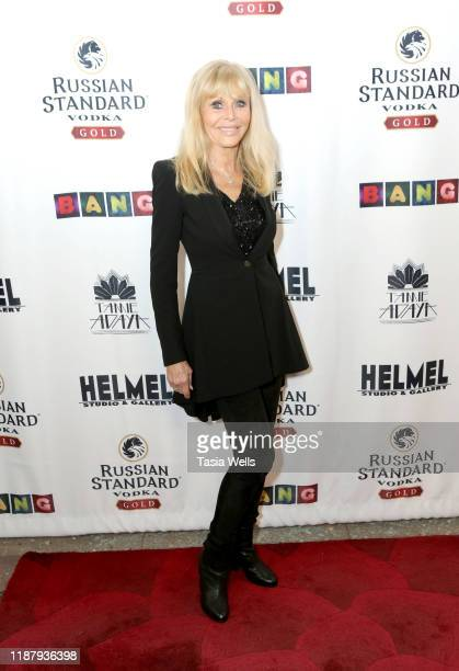 Britt Ekland attends Val Kilmer's HelMel Studios Presents GLAM Art Exhibition at HelMel Studios on November 15 2019 in Los Angeles California