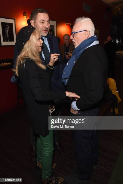 Britt Ekland David Walliams and Malcolm McDowell attend 'In Conversation With Malcolm McDowell' at the BFI Southbank on April 5 2019 in London England
