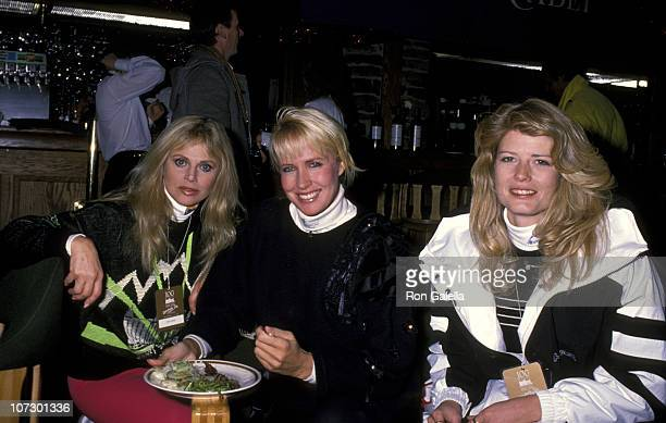 Britt Ekland Fawn Hall and Suzy Chaffee during Princess Yasmin Khan hosted a celebrity SKi invitational for the benefit of Alzheimer's Disease at...