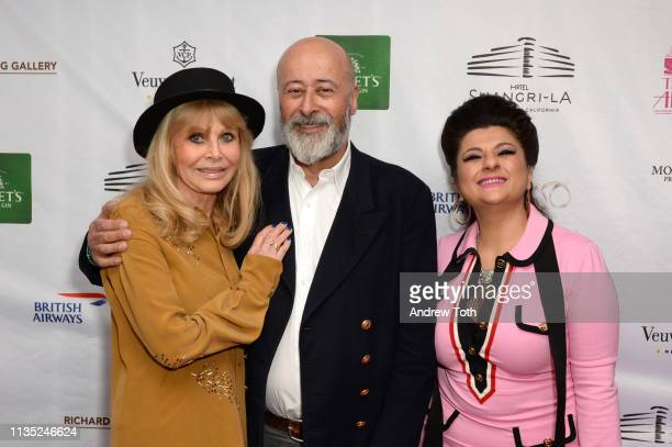 Britt Ekland Richard Young and Tamie Adaya attend Hotel ShangriLa's Diamond Jubilee Launch at Hotel ShangriLa on March 11 2019 in Santa Monica...