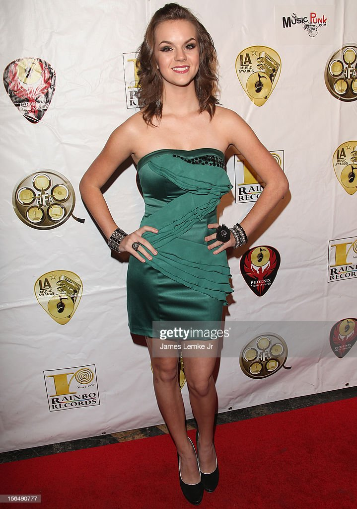 Britt Flatmo attends the 22nd Annual LA Music Awards held at the Avalon on November 15, 2012 in Hollywood, California.