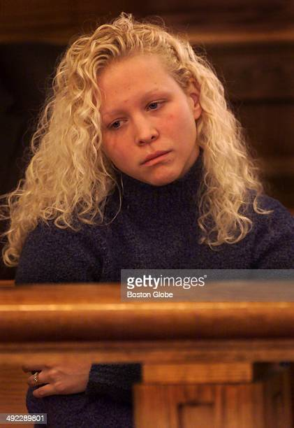 Britt Greineder daughter of Dr Dirk Greineder listens during today's motion hearing at Norfolk Superior Court in Dedham Dirk Greineder an allergist...