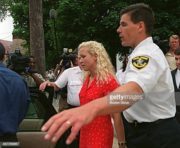 Britt Greineder leaves Norfolk Superior Court in Dedham Mass on June 29 after her father Dr Dirk Greineder was convicted of firstdegree murder in the...