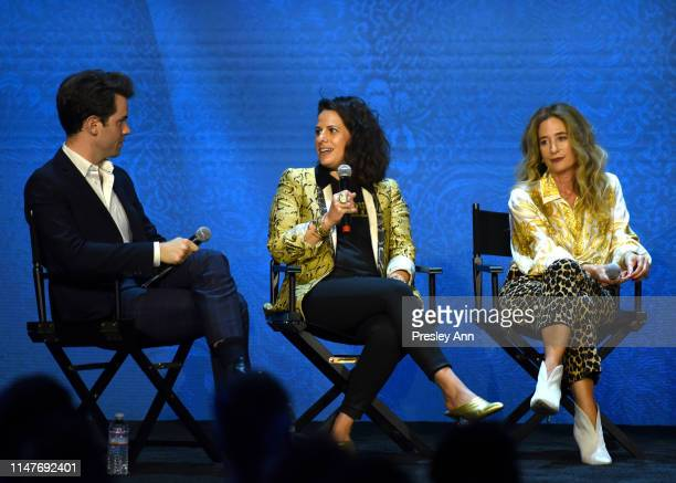 Britt Hennemuth Beth Morgan and Allyson Fanger attend the Netflix Costume Designer Panel and Reception at Raleigh Studios on May 07 2019 in Los...