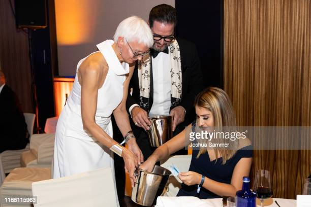 Britt Jolig Alex Jolig and guest attend the Dolphin's Night 2019 on November 16 2019 in Dusseldorf Germany