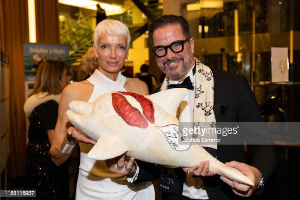 Britt Jolig and Alex Jolig attend the Dolphin's Night 2019 on November 16 2019 in Dusseldorf Germany