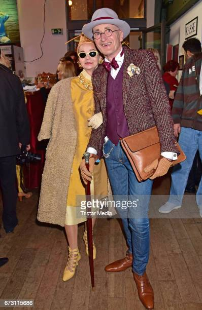 Britt Kanja and Guenther Anton Krabbenhoeft during the celebration of Julian F M Stoeckels 25th birthday on April 25 2017 in Berlin Germany