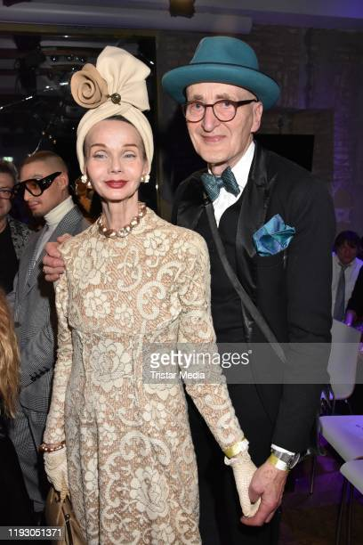 Britt Kanja and Guenther Krabbenhoeft attend the Harald Gloeoeckler and Eric Sindermann fashion show at The Grand on January 10 2020 in Berlin Germany