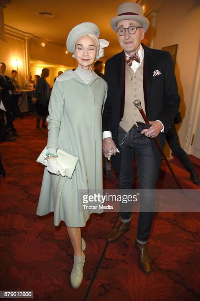 Britt Kanja and Guenther Krabbenhoeft attend the premiere of 'Gayle Tufts Very Christmas' on November 26 2017 in Berlin Germany