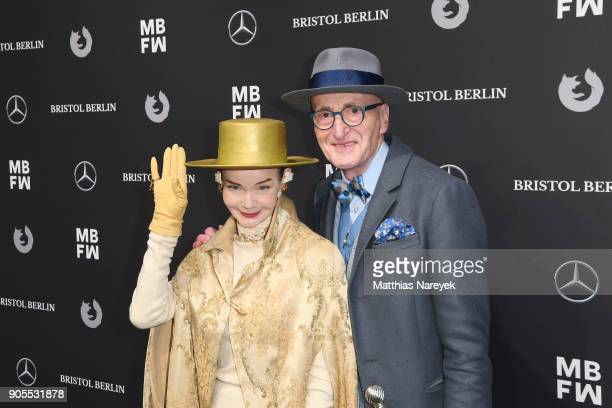 Britt Kanja and Guenther Krabbenhoeft attends the Ewa Herzog show during the MBFW Berlin January 2018 at ewerk on January 16 2018 in Berlin Germany