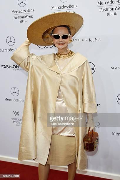 Britt Kanja attends the Ewa Herzog show during the MercedesBenz Fashion Week Berlin Spring/Summer 2016 at Brandenburg Gate on July 10 2015 in Berlin...
