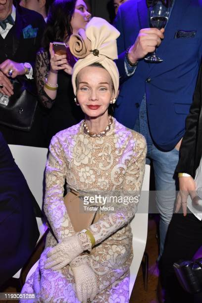 Britt Kanja attends the Harald Gloeoeckler and Eric Sindermann fashion show at The Grand on January 10 2020 in Berlin Germany