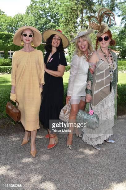 Britt Kanja Fiona Bennett Christine Eichel and Lili Nalovi during the Fashion Race Day on June 9 2019 in DahlwitzHoppegarten Germany