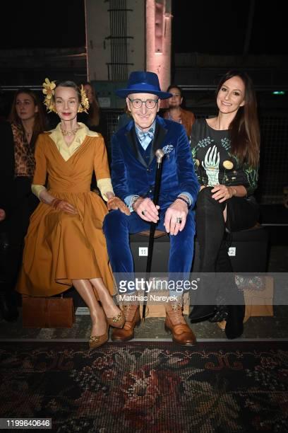 Britt Kanja Guenther Krabbenhoeft and Marla Blumenblatt attend the Lena Hoschek show during Berlin Fashion Week Autumn/Winter 2020 at Kraftwerk Mitte...