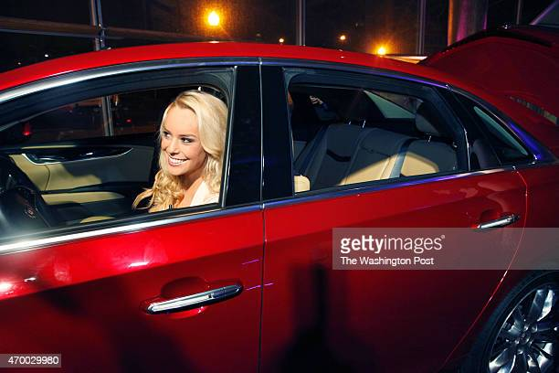 Britt McHenry ABC7 weekend sports anchor has fun in the candy apple Cadillac XTS 2013 there were also candy apple drinks and a candy bar not to...