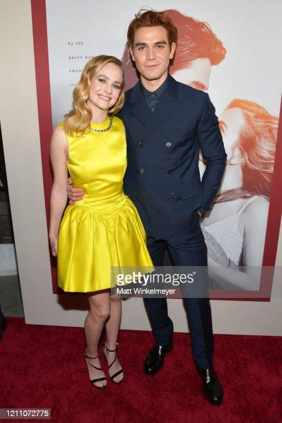 """Britt Robertson and K.J. Apa attend the premiere of Lionsgate's """"I Still Believe"""" at ArcLight Hollywood on March 07, 2020 in Hollywood, California."""