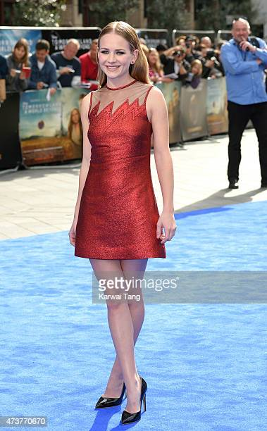 Britt Robertson attends the European premiere of 'Tomorrowland A World Beyond' at Odeon Leicester Square on May 17 2015 in London England