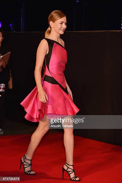 Britt Robertson attends the Tokyo premiere of Tomorrowland at Roppongi Hills on May 25 2015 in Tokyo Japan