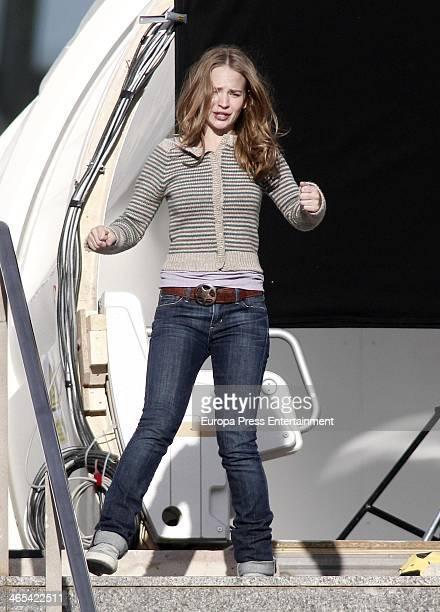 Britt Robertson is seen on the set filming of 'Tomorrowland' at Ciudad de las Artes y las Ciencias on January 25 2014 in Valencia Spain