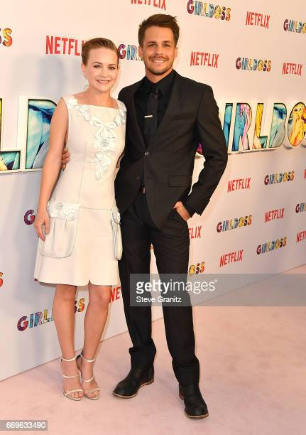 Britt Robertson Johnny Simmons arrives at the Premiere Of Netflix's 'Girlboss' at ArcLight Cinemas on April 17 2017 in Hollywood California