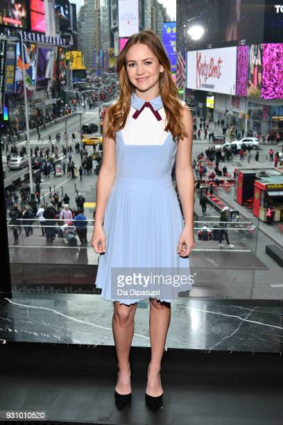 Britt Robertson visits 'Extra' at their New York studios at the Renaissance New York Times Square Hotel on March 12 2018 in New York City