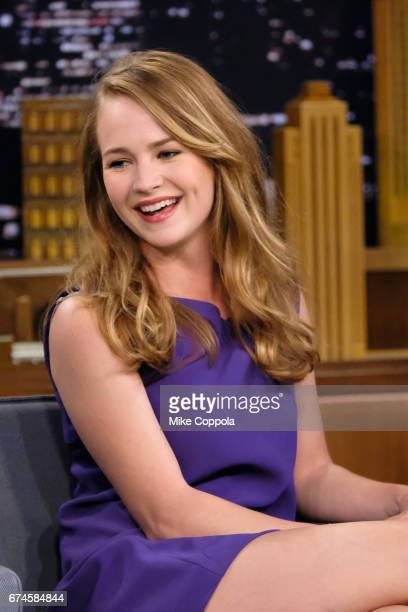Britt Robertson Visits 'The Tonight Show Starring Jimmy Fallon' at Rockefeller Center on April 28 2017 in New York City