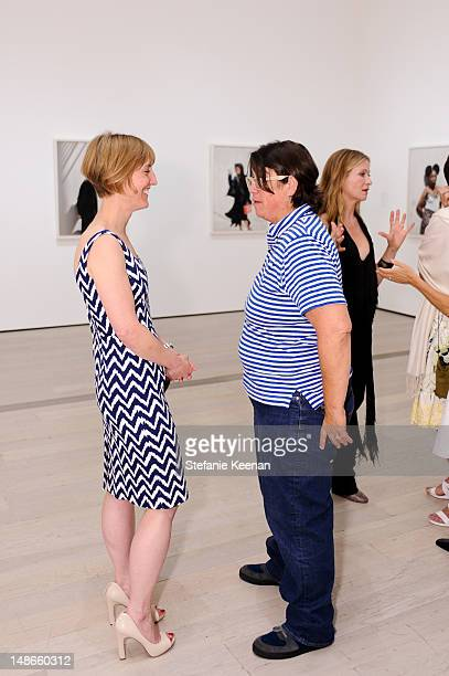 Britt Salvesen and Catherine Opie LACMA's Opening Reception for The Sun and Other Stars Katy Grannan and Charlie White at LACMA on July 18 2012 in...