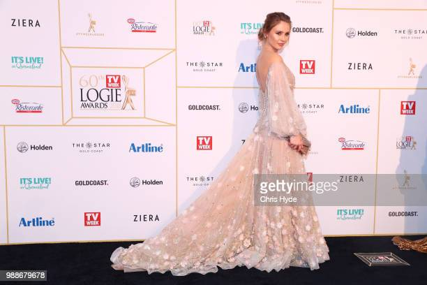 Britt Scott Clark arrives at the 60th Annual Logie Awards at The Star Gold Coast on July 1 2018 in Gold Coast Australia
