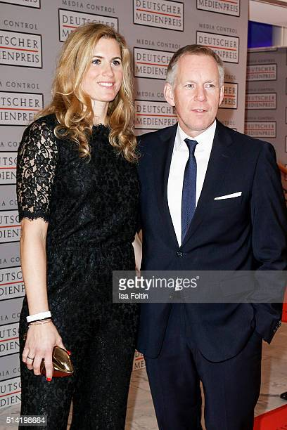 Britta Becker and her husband Johannes B Kerner attend the German Media Award 2016 on March 07 2016 in BadenBaden Germany