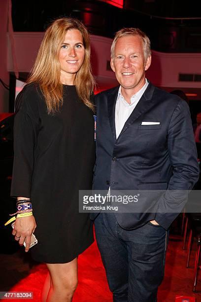Britta Becker and Johannes B Kerner attend the 'Das Herz im Zentrum' Charity Gala on June 14 2015 in Hamburg Germany