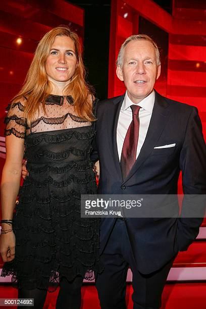 Britta Becker and Johannes B Kerner attend the Ein Herz Fuer Kinder Gala 2015 show at Tempelhof Airport on December 5 2015 in Berlin Germany